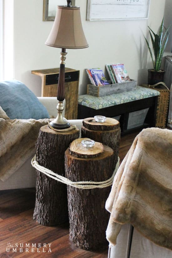 Diy Tree Stump Table 4