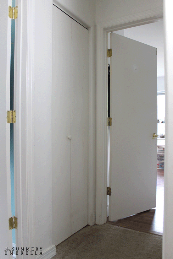 Gentil Linen Closet. Reason 1: I Really Hate This Door. It Sticks, Itu0027s Clumsy And  Has Been Painted One Too Many Times.
